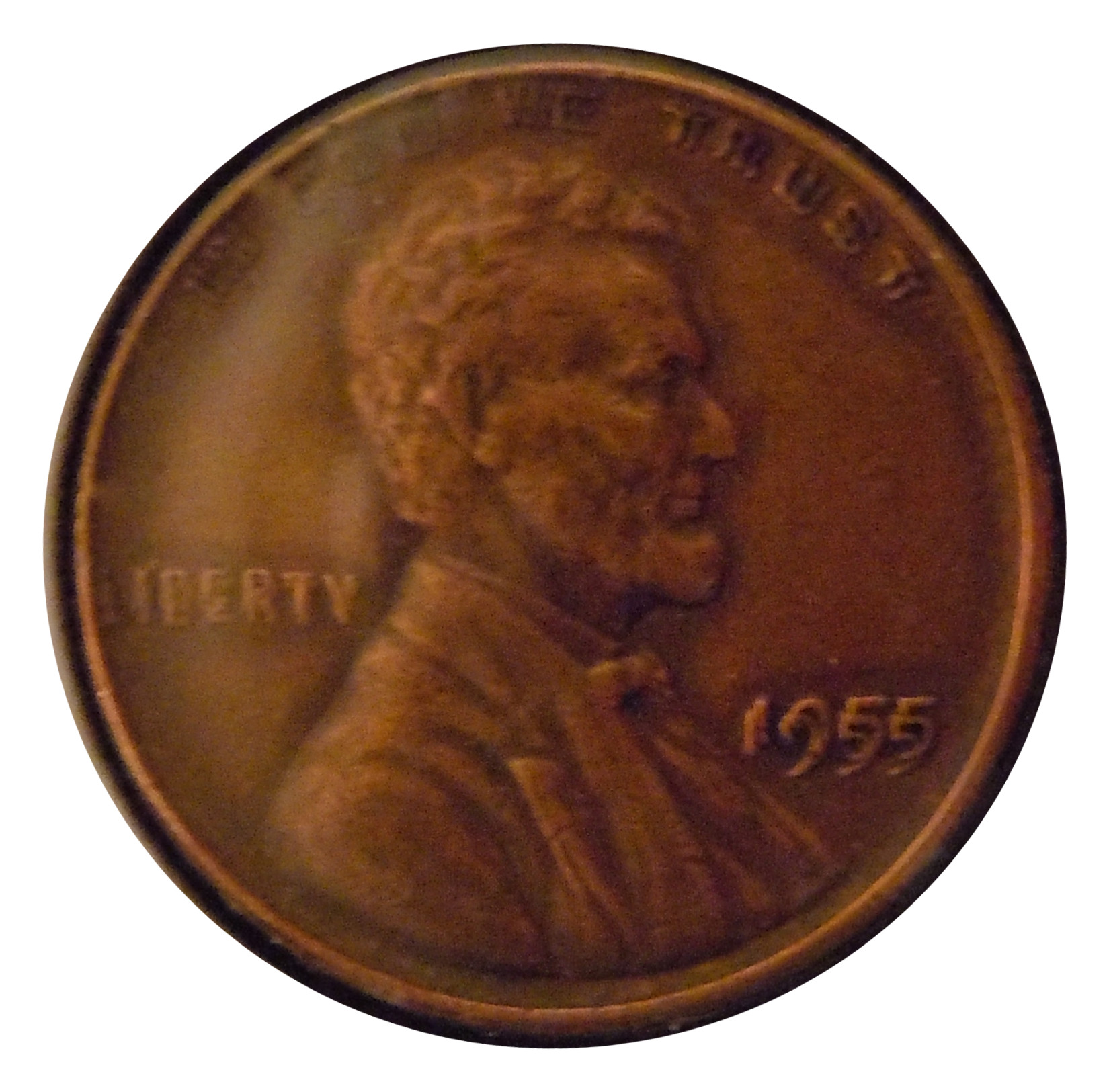 1955/55 DDO Lincoln Cent  ( AU )