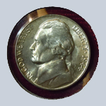 1944-D Jefferson Nickel - With Steps  ( BU )