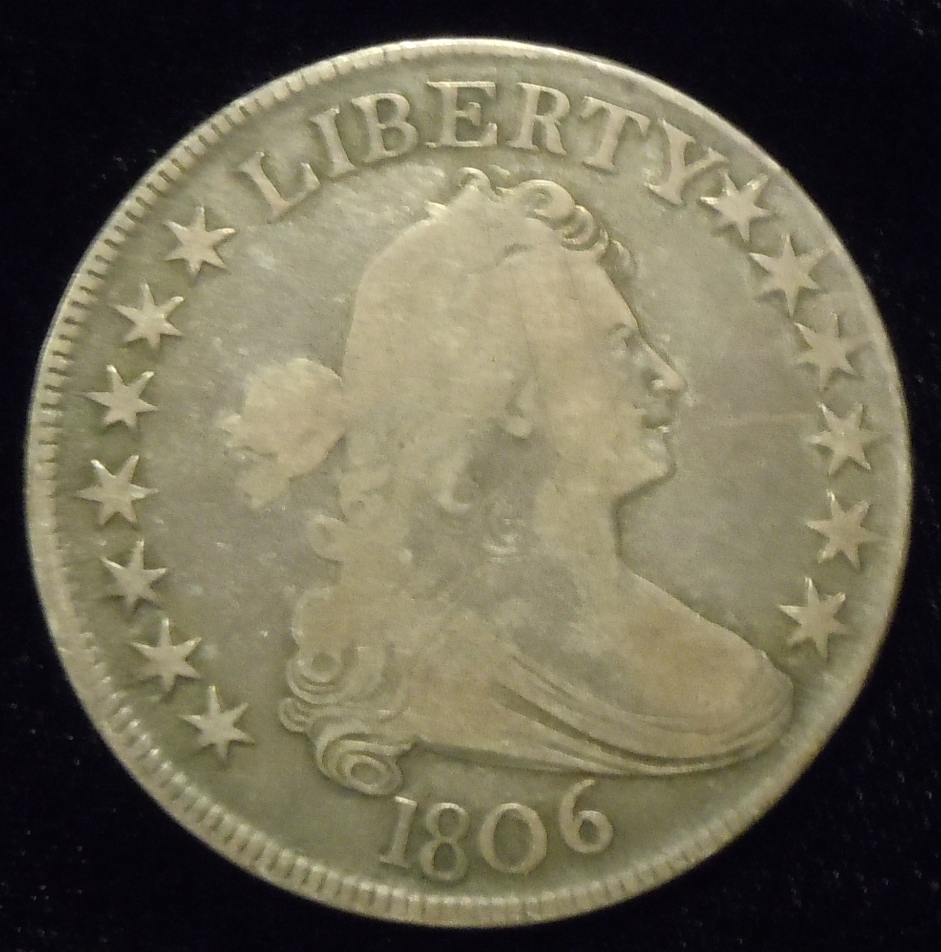 1806 Bust Half Pointed 6 ( F12 )