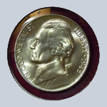 1945-P Jefferson Nickel  (Gem BU )