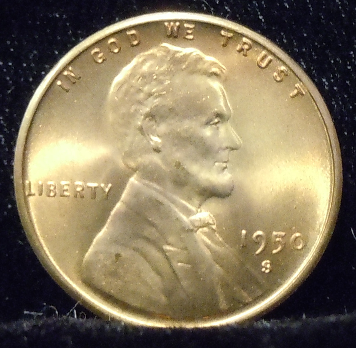 1950-S Lincoln Cent ( BU )