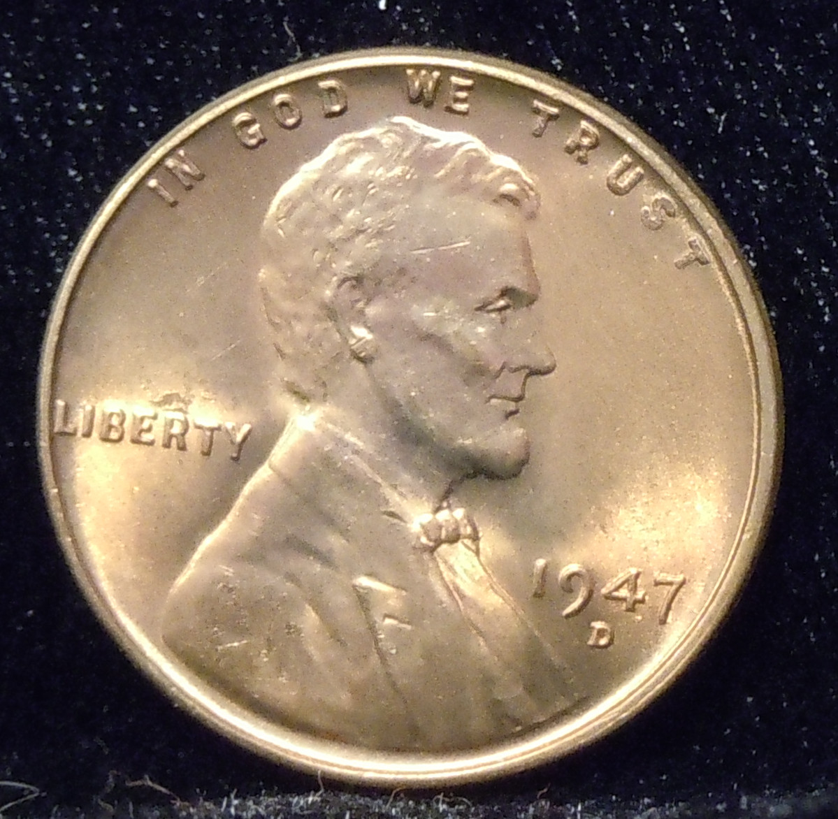 1947-D Lincoln Cent ( BU )