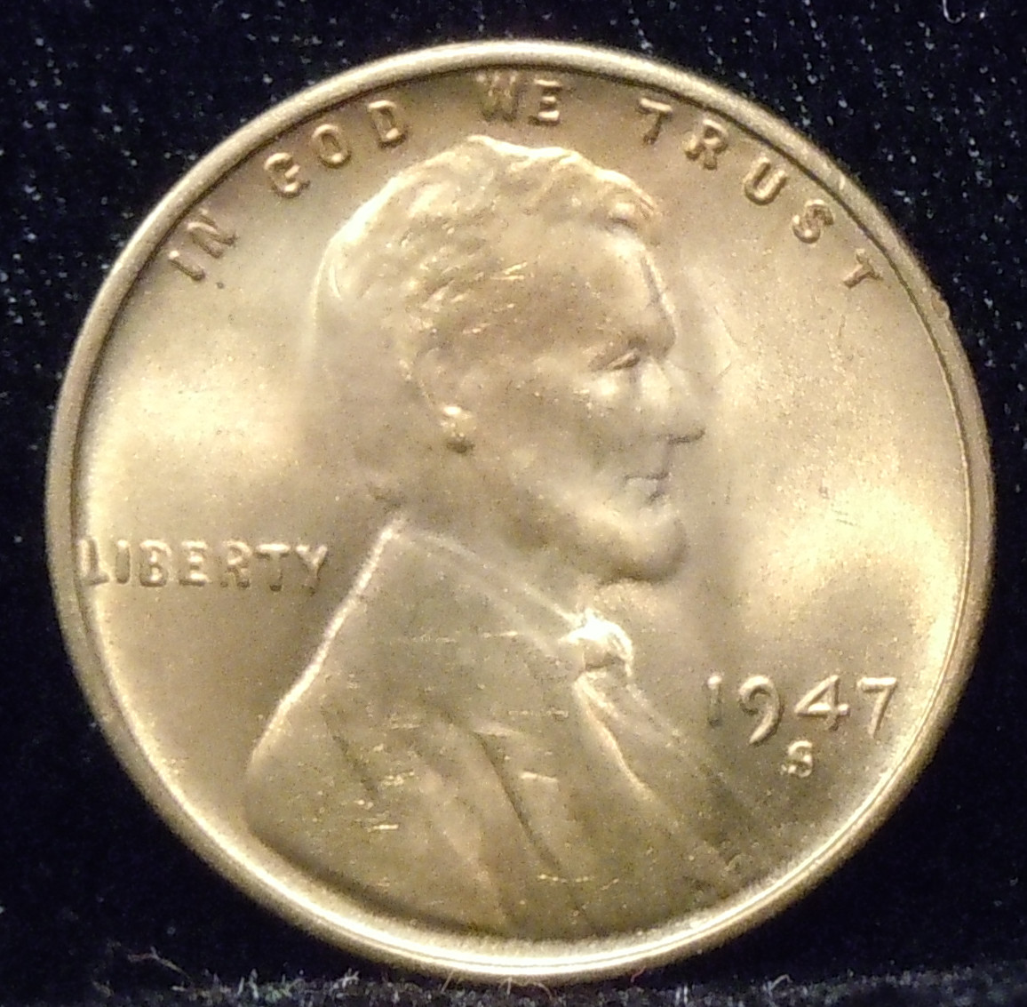 1947-S Lincoln Cent ( BU )