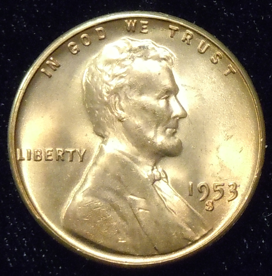 1953-S Lincoln Cent ( BU )