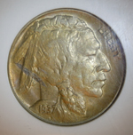 1937-D 3 Legged Buffalo Nickel  ( AU55 )