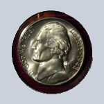 1948-D  Jefferson Nickel - With Steps  ( BU )