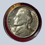 1942 Jefferson Nickel - With Steps  ( BU )